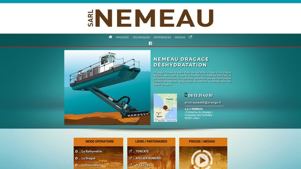 nemeau-dragage.com : site internet